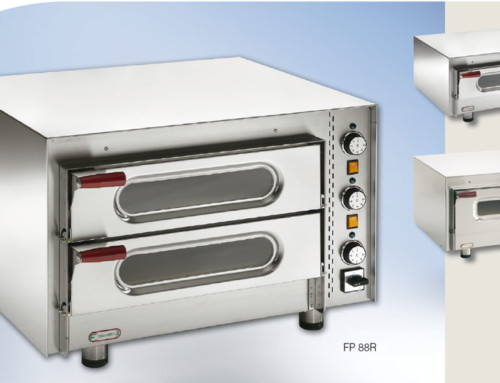 Mid-size pizza ovens with display and inside light